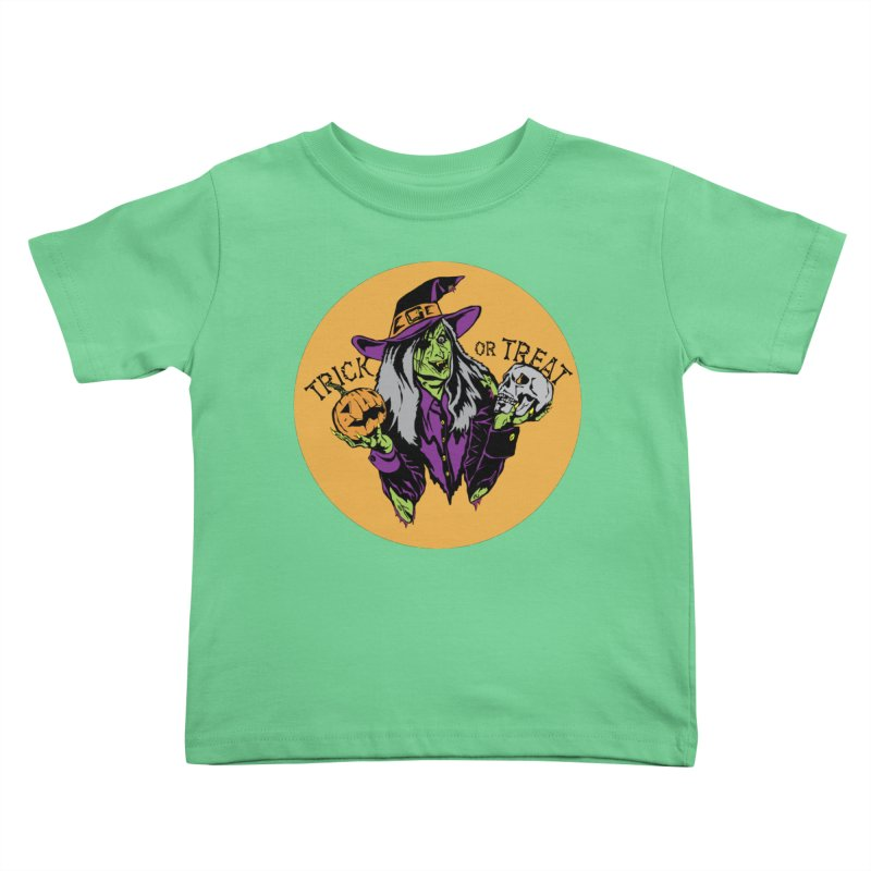 Trick or Treat Kids Toddler T-Shirt by ArtSkull's Threadless Shop