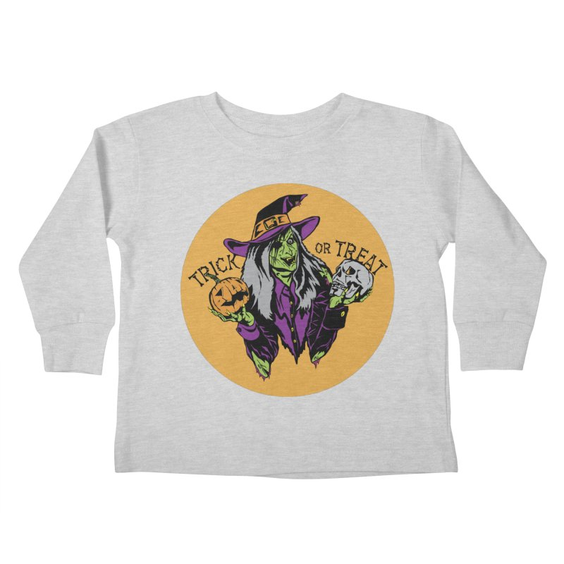Trick or Treat Kids Toddler Longsleeve T-Shirt by ArtSkull's Threadless Shop