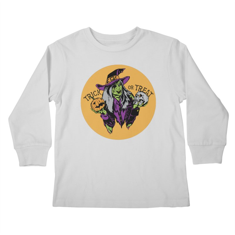 Trick or Treat Kids Longsleeve T-Shirt by ArtSkull's Threadless Shop