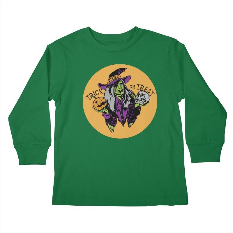 Trick or Treat Kids Longsleeve T-Shirt by ArtSkull's Threadless Shop