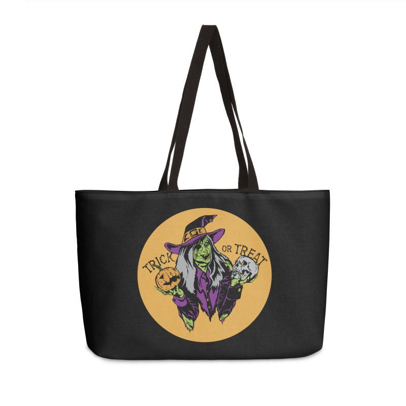 Trick or Treat Accessories Weekender Bag Bag by ArtSkull's Threadless Shop