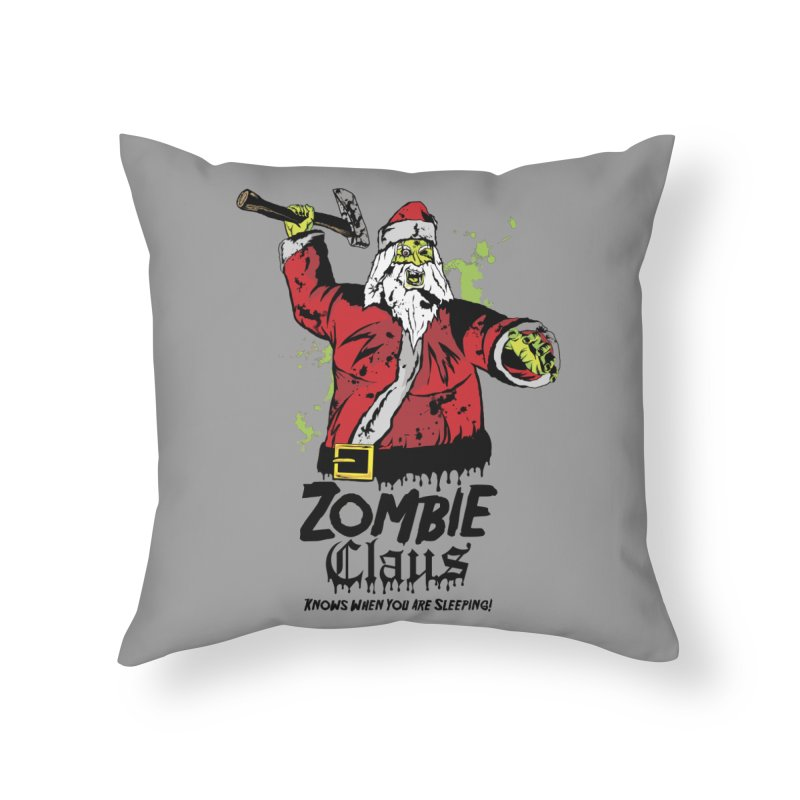 Zombie Claus Home Throw Pillow by ArtSkull's Threadless Shop