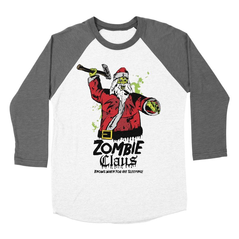 Zombie Claus Men's Baseball Triblend Longsleeve T-Shirt by ArtSkull's Threadless Shop