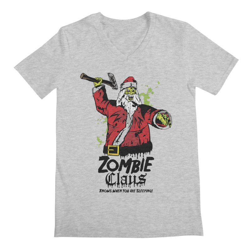 Zombie Claus Men's Regular V-Neck by ArtSkull's Threadless Shop