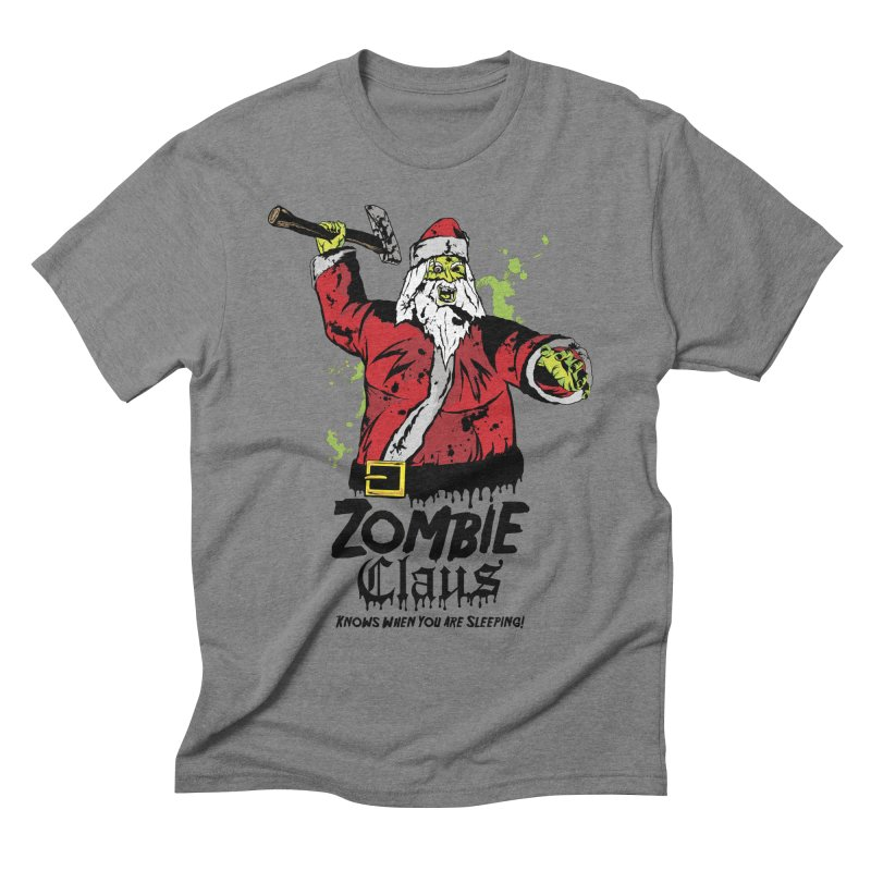 Zombie Claus Men's Triblend T-shirt by ArtSkull's Threadless Shop