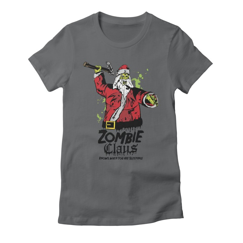 Zombie Claus Women's Fitted T-Shirt by ArtSkull's Threadless Shop