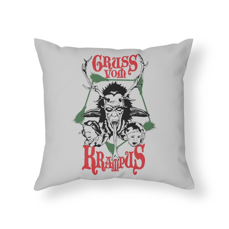 Gruss vom Krampus Home Throw Pillow by ArtSkull's Threadless Shop