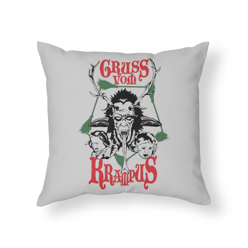 Gruss vom Krampus Home Throw Pillow by ArtSkull's Threadless Shop