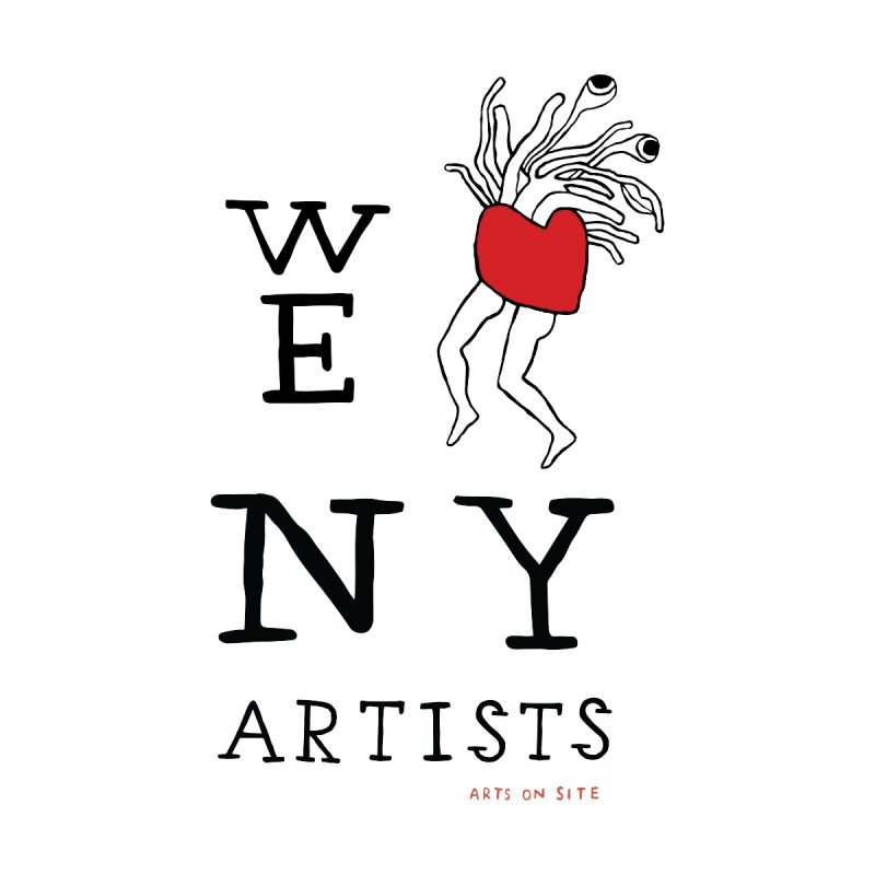 WE HEART NY ARTISTS Men's T-Shirt by Arts On Site Shop