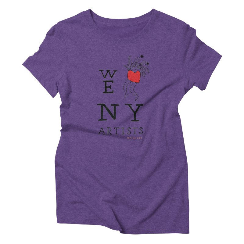 WE HEART NY ARTISTS Women's T-Shirt by Arts On Site Shop