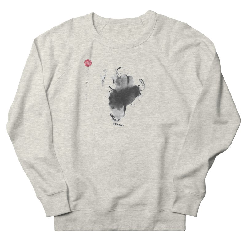Turn Body And Sweep Lotus With Leg Women's French Terry Sweatshirt by arttaichi's Artist Shop