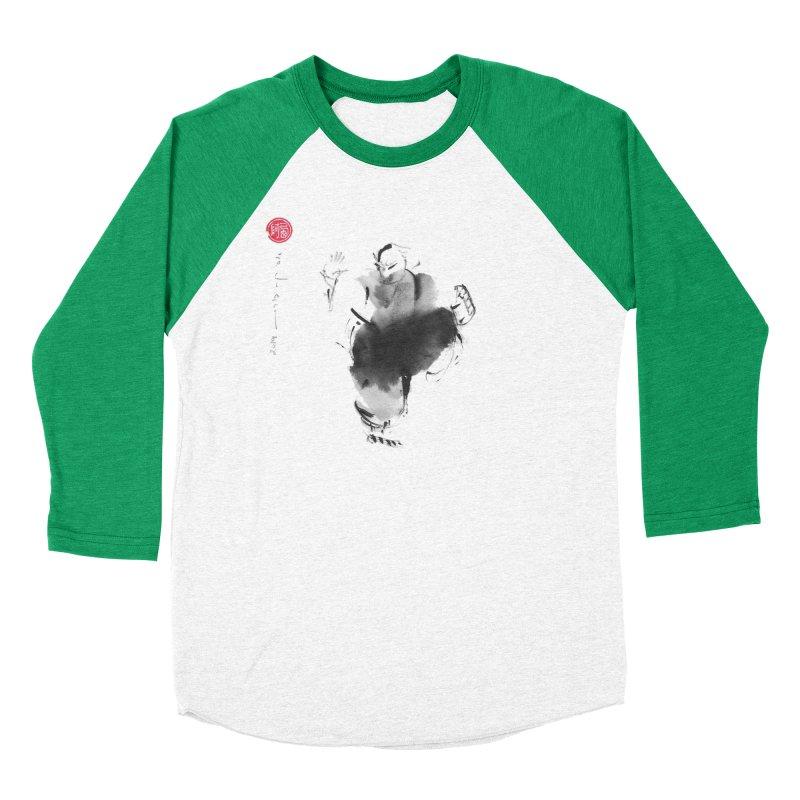 Turn Body And Sweep Lotus With Leg Women's Baseball Triblend Longsleeve T-Shirt by arttaichi's Artist Shop