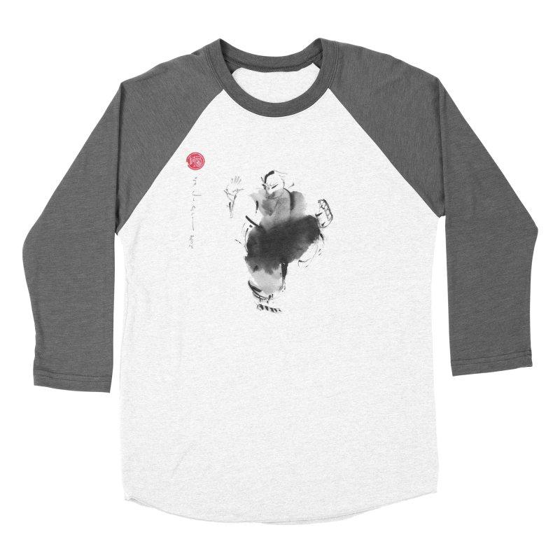 Turn Body And Sweep Lotus With Leg Men's Baseball Triblend Longsleeve T-Shirt by arttaichi's Artist Shop
