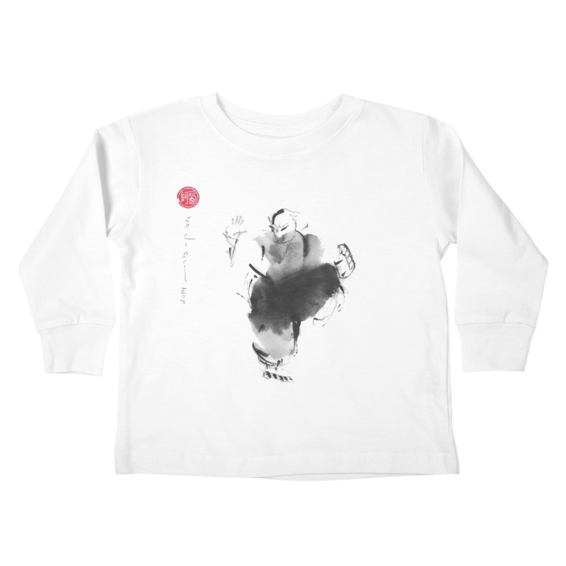 Turn Body And Sweep Lotus With Leg Kids Toddler Longsleeve T-Shirt by arttaichi's Artist Shop