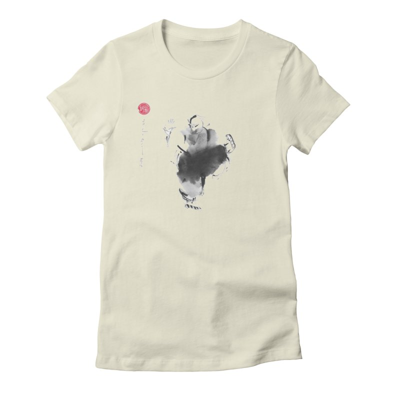 Turn Body And Sweep Lotus With Leg Women's Fitted T-Shirt by arttaichi's Artist Shop