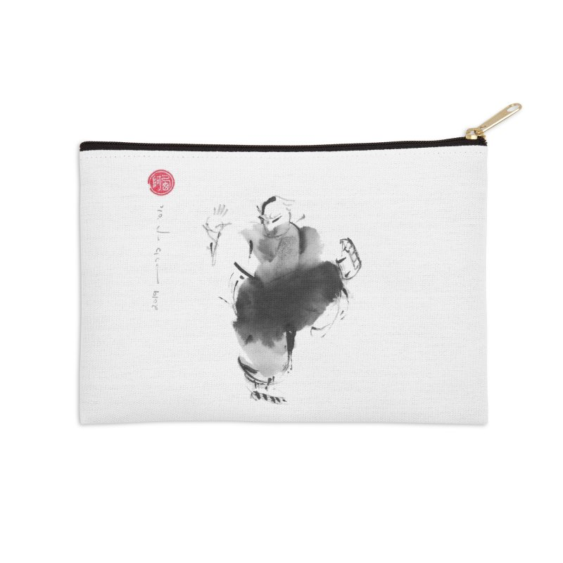 Turn Body And Sweep Lotus With Leg Accessories Zip Pouch by arttaichi's Artist Shop