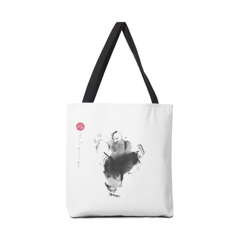 Turn Body And Sweep Lotus With Leg Accessories Tote Bag Bag by arttaichi's Artist Shop