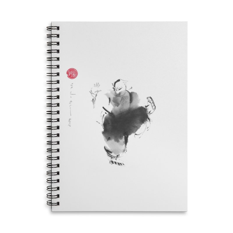 Turn Body And Sweep Lotus With Leg Accessories Lined Spiral Notebook by arttaichi's Artist Shop