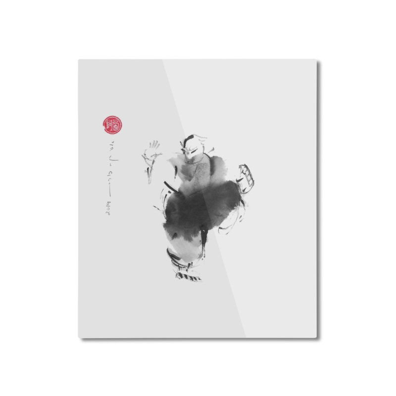 Turn Body And Sweep Lotus With Leg Home Mounted Aluminum Print by arttaichi's Artist Shop
