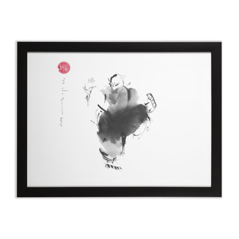 Turn Body And Sweep Lotus With Leg Home Framed Fine Art Print by arttaichi's Artist Shop