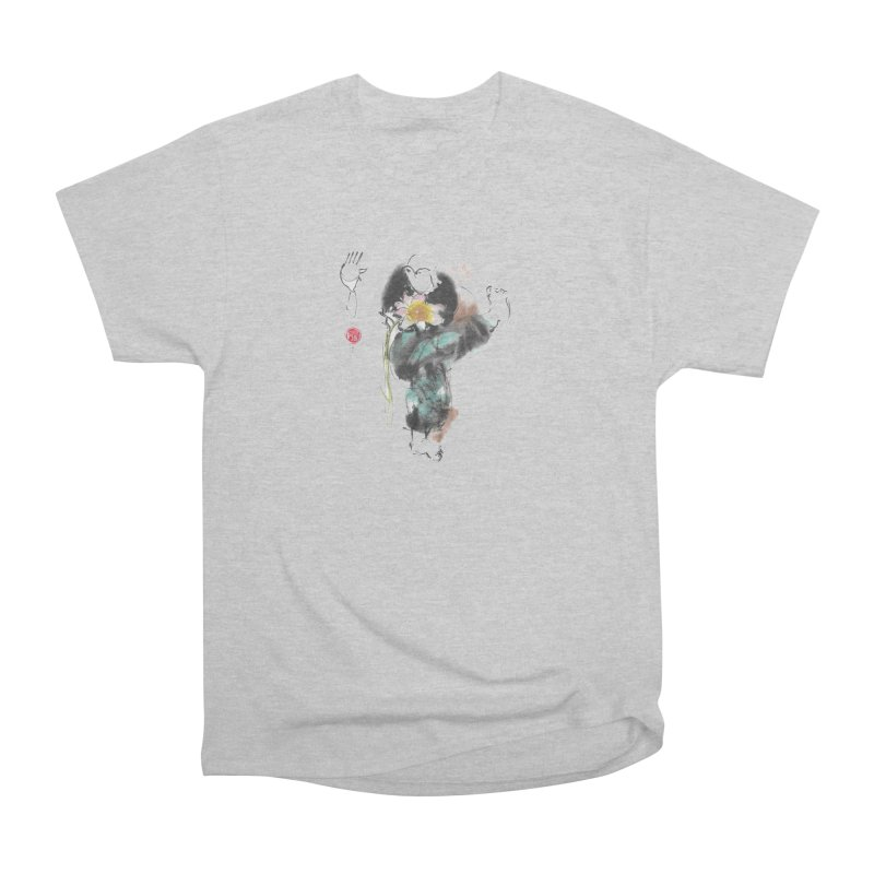 Turn Body And Sweep Lotus With Leg (color version) Men's T-Shirt by arttaichi's Artist Shop