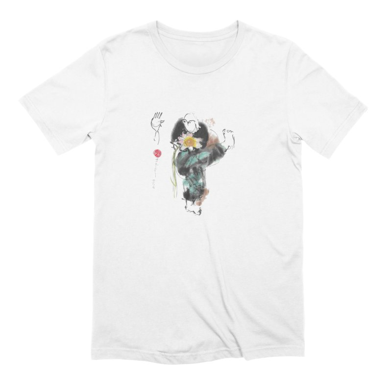 Turn Body And Sweep Lotus With Leg (color version) Men's Extra Soft T-Shirt by arttaichi's Artist Shop