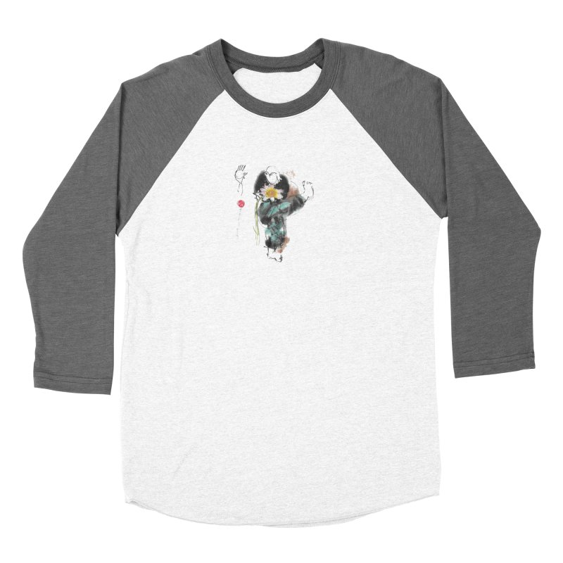 Turn Body And Sweep Lotus With Leg (color version) Men's Baseball Triblend Longsleeve T-Shirt by arttaichi's Artist Shop