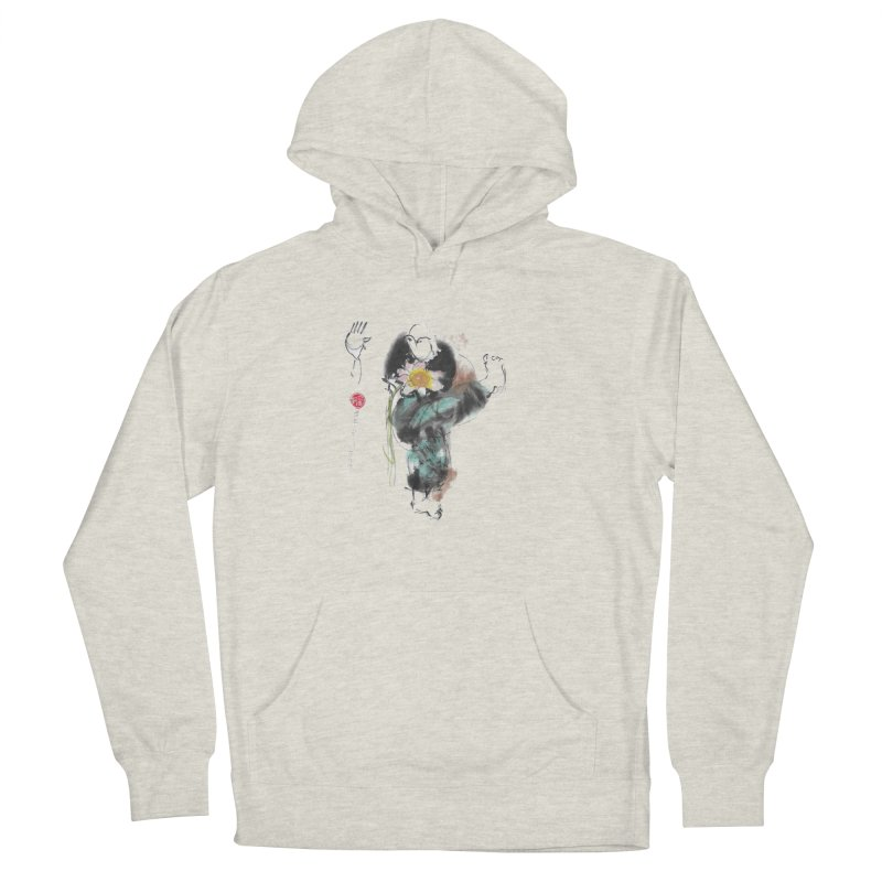 Turn Body And Sweep Lotus With Leg (color version) Men's French Terry Pullover Hoody by arttaichi's Artist Shop