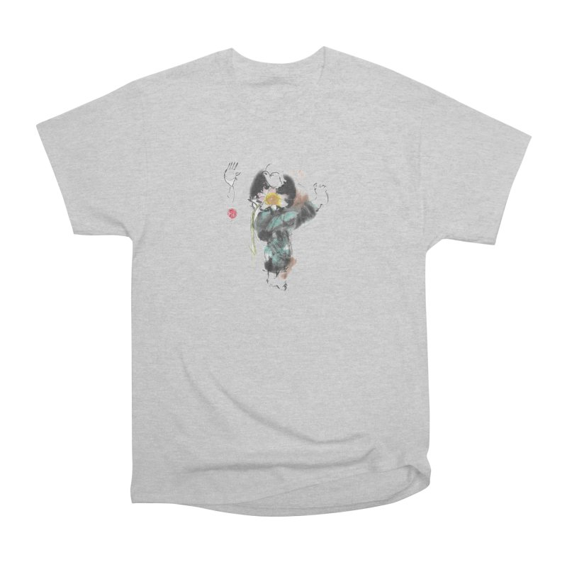 Turn Body And Sweep Lotus With Leg (color version) Women's Heavyweight Unisex T-Shirt by arttaichi's Artist Shop