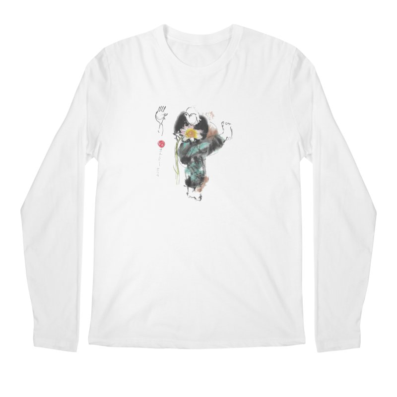 Turn Body And Sweep Lotus With Leg (color version) Men's Regular Longsleeve T-Shirt by arttaichi's Artist Shop