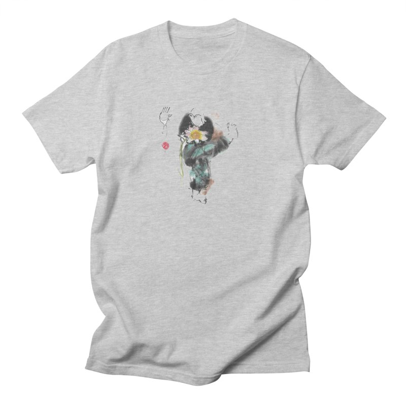 Turn Body And Sweep Lotus With Leg (color version) Men's Regular T-Shirt by arttaichi's Artist Shop