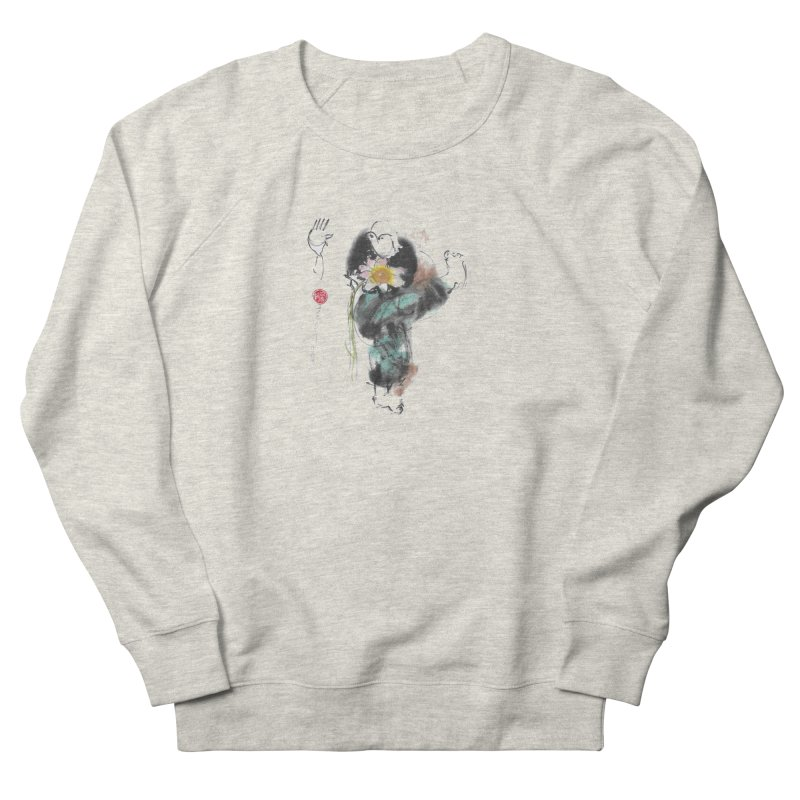 Turn Body And Sweep Lotus With Leg (color version) Women's French Terry Sweatshirt by arttaichi's Artist Shop