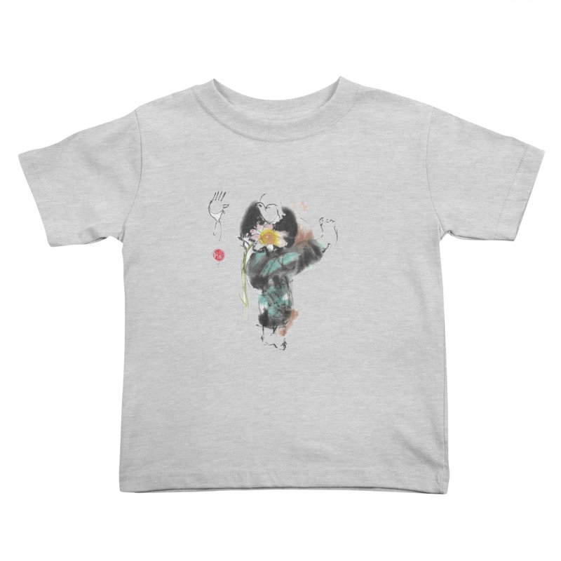 Turn Body And Sweep Lotus With Leg (color version) Kids Toddler T-Shirt by arttaichi's Artist Shop