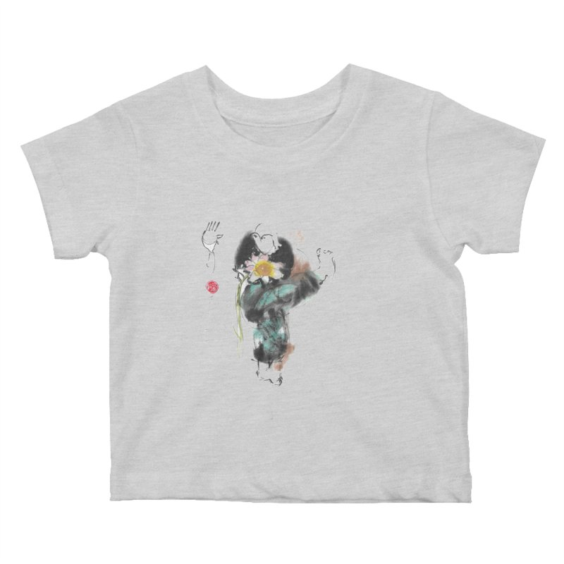Turn Body And Sweep Lotus With Leg (color version) Kids Baby T-Shirt by arttaichi's Artist Shop