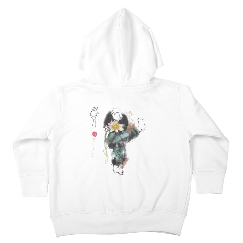 Turn Body And Sweep Lotus With Leg (color version) Kids Toddler Zip-Up Hoody by arttaichi's Artist Shop
