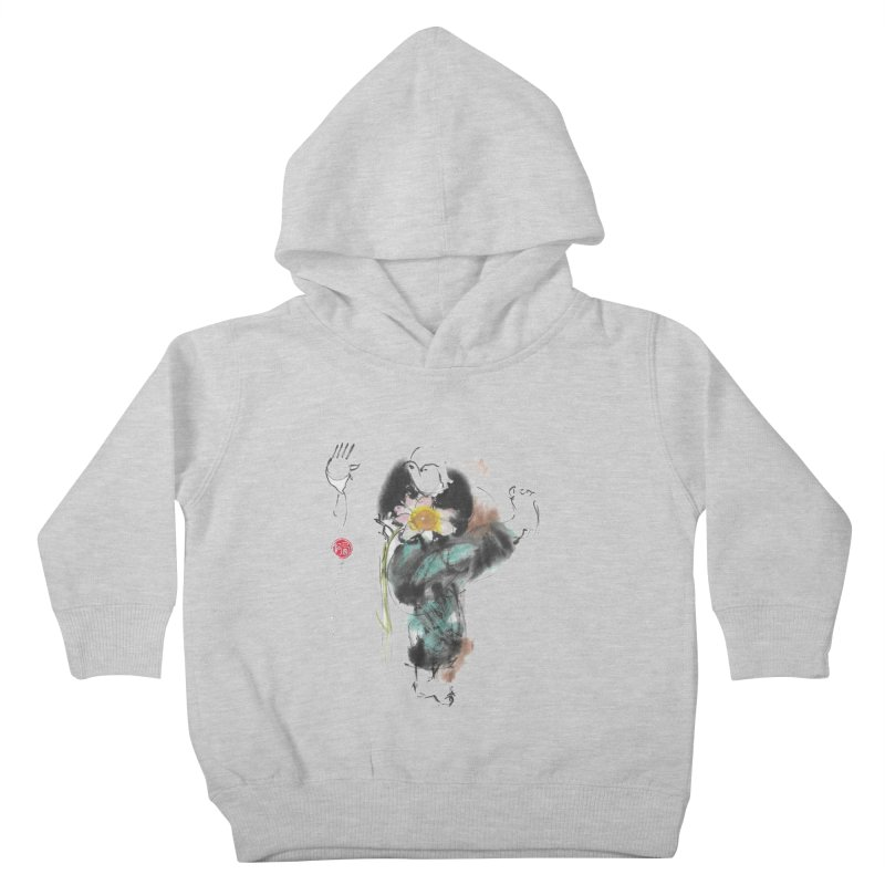 Turn Body And Sweep Lotus With Leg (color version) Kids Toddler Pullover Hoody by arttaichi's Artist Shop