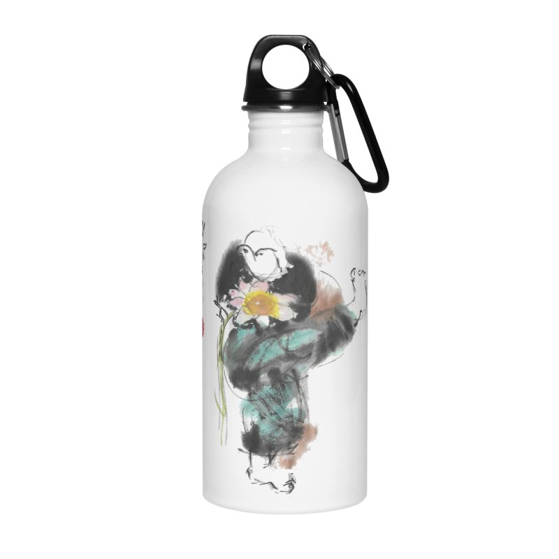 Turn Body And Sweep Lotus With Leg (color version) Accessories Water Bottle by arttaichi's Artist Shop