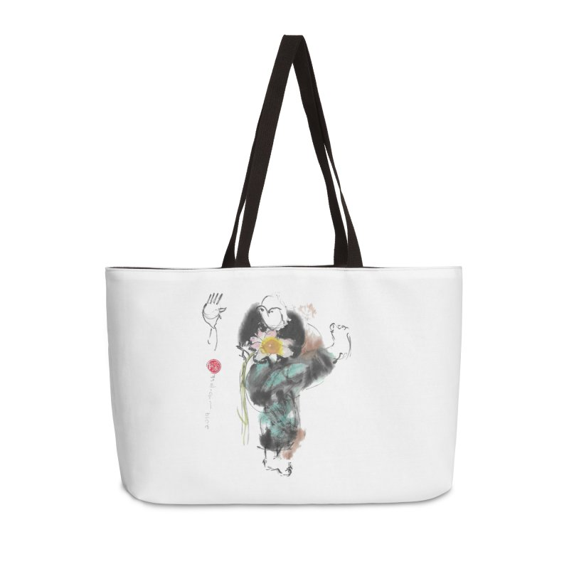 Turn Body And Sweep Lotus With Leg (color version) Accessories Weekender Bag Bag by arttaichi's Artist Shop