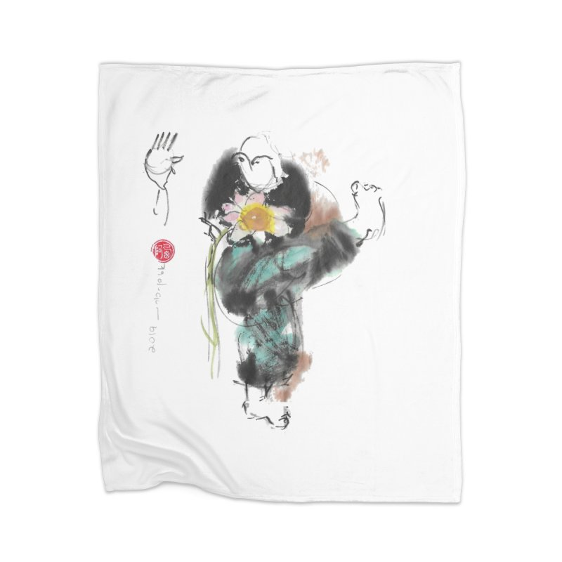 Turn Body And Sweep Lotus With Leg (color version) Home Blanket by arttaichi's Artist Shop