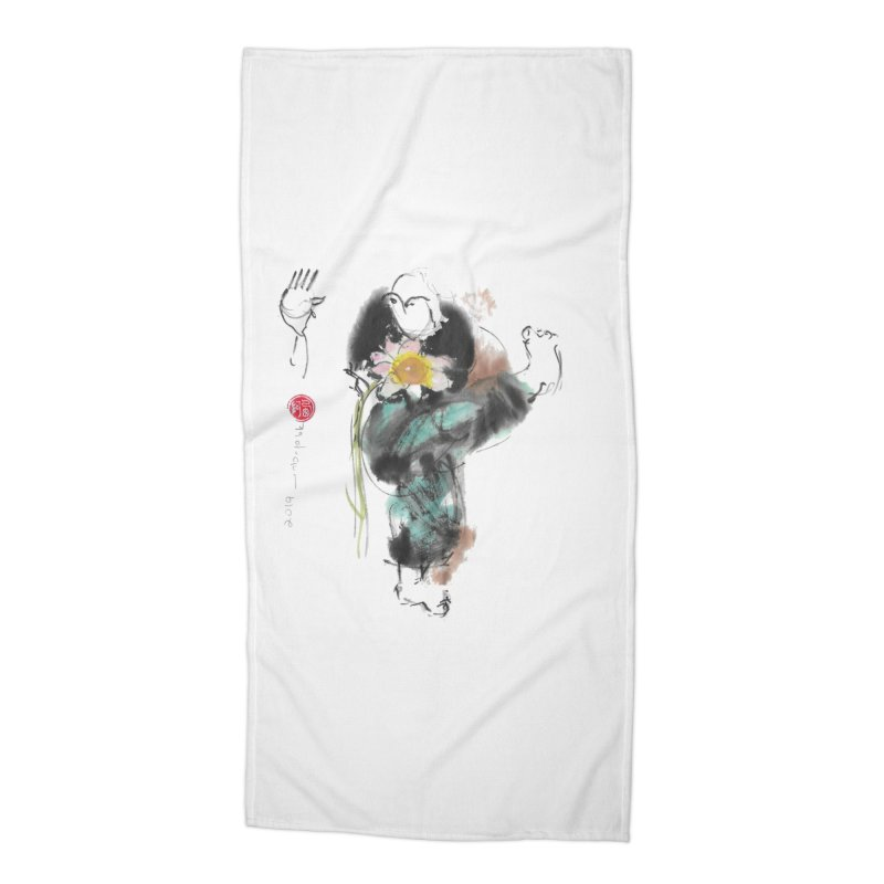 Turn Body And Sweep Lotus With Leg (color version) Accessories Beach Towel by arttaichi's Artist Shop