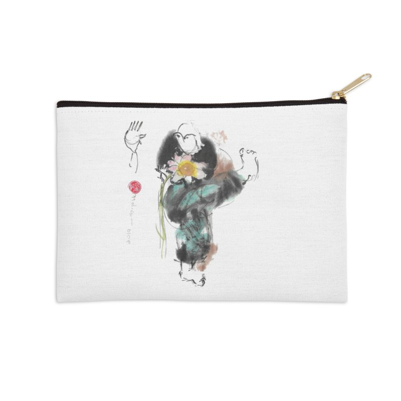 Turn Body And Sweep Lotus With Leg (color version) Accessories Zip Pouch by arttaichi's Artist Shop