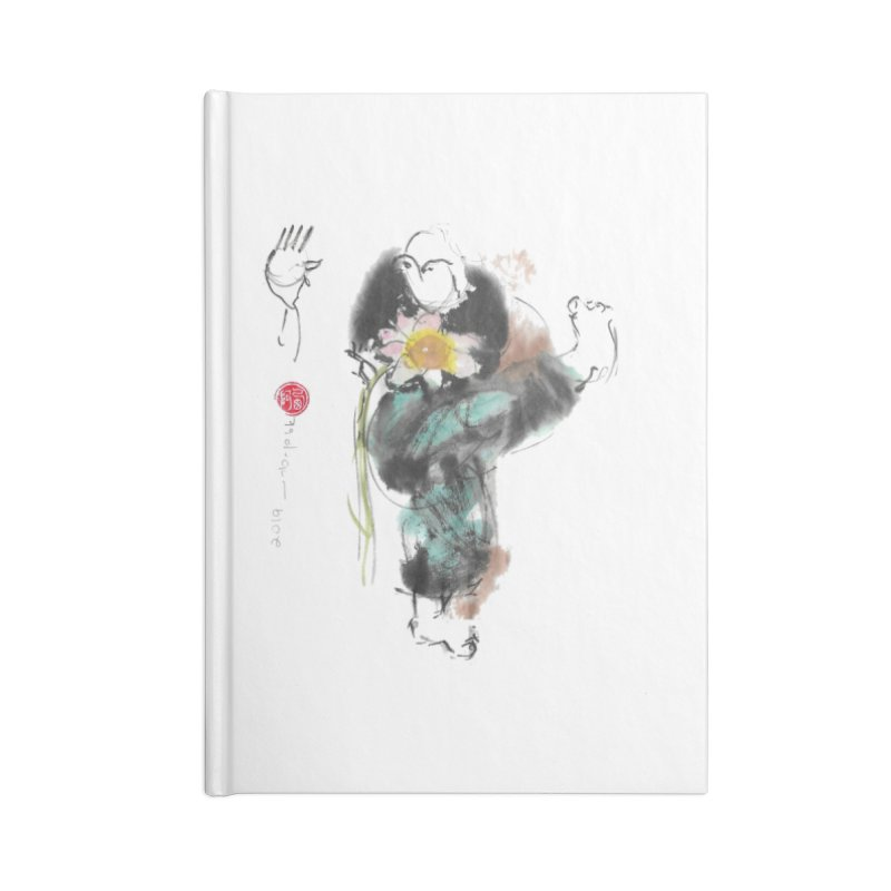 Turn Body And Sweep Lotus With Leg (color version) Accessories Lined Journal Notebook by arttaichi's Artist Shop