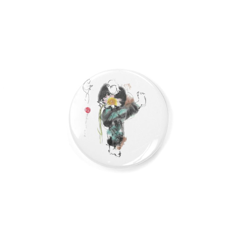 Turn Body And Sweep Lotus With Leg (color version) Accessories Button by arttaichi's Artist Shop