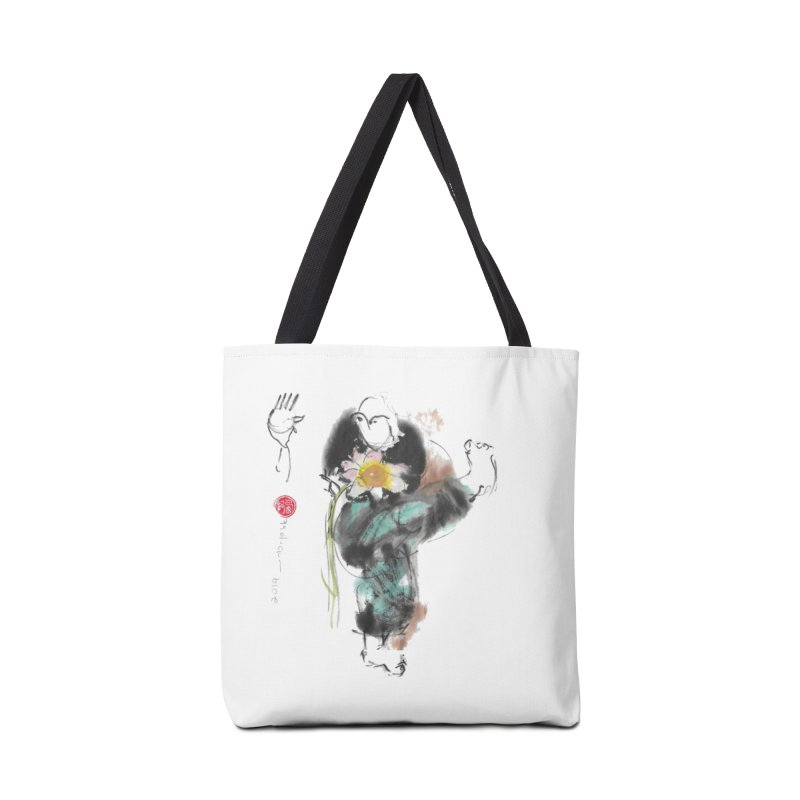 Turn Body And Sweep Lotus With Leg (color version) Accessories Tote Bag Bag by arttaichi's Artist Shop