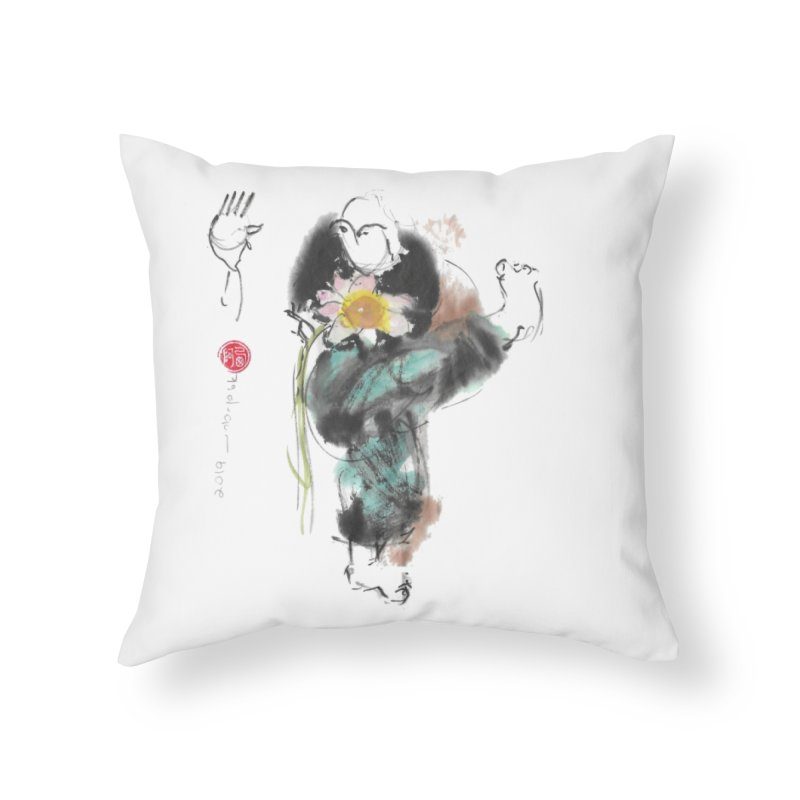 Turn Body And Sweep Lotus With Leg (color version) Home Throw Pillow by arttaichi's Artist Shop