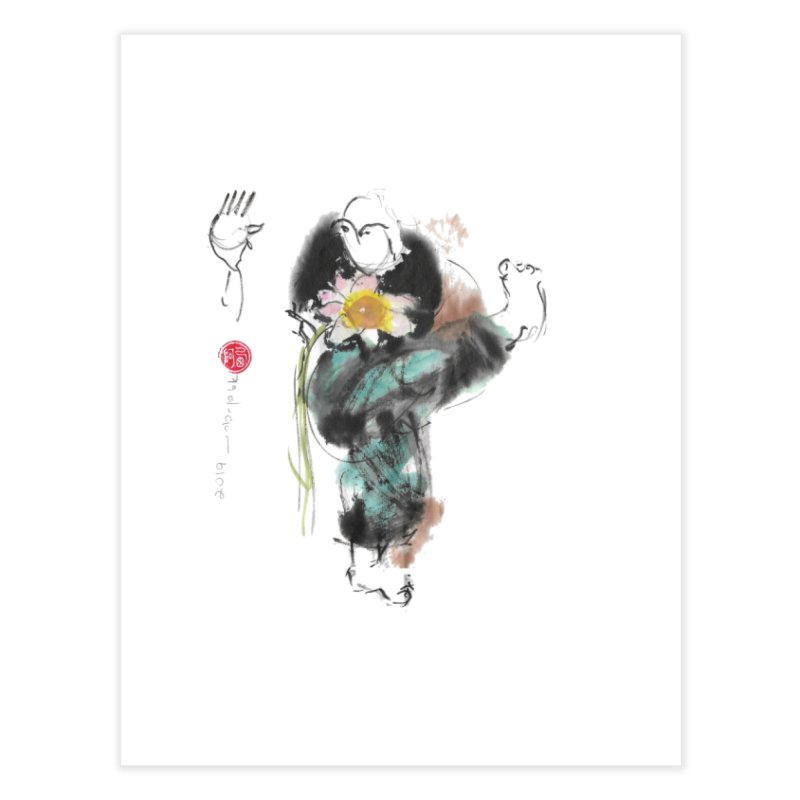 Turn Body And Sweep Lotus With Leg (color version) Home Fine Art Print by arttaichi's Artist Shop