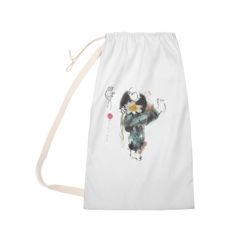 Turn Body And Sweep Lotus With Leg (color version) Accessories Laundry Bag Bag by arttaichi's Artist Shop