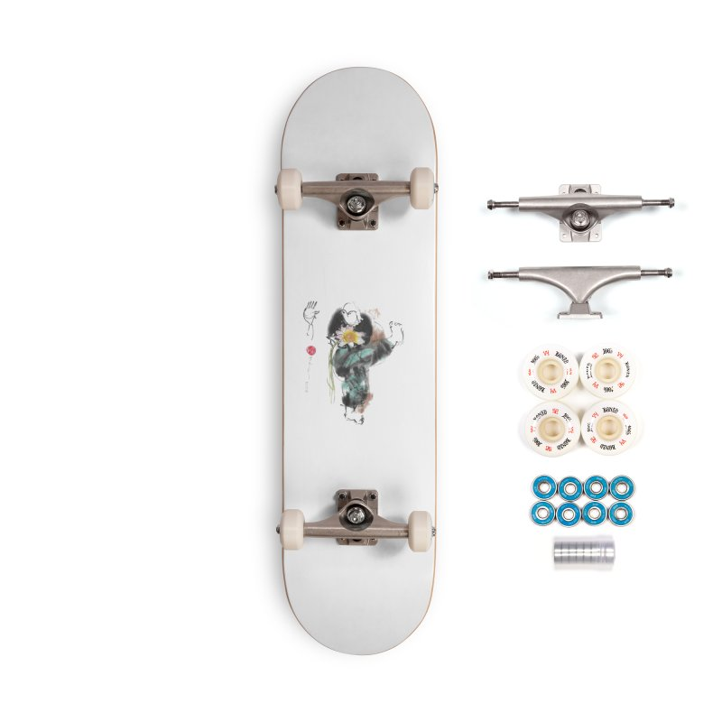 Turn Body And Sweep Lotus With Leg (color version) Accessories Complete - Premium Skateboard by arttaichi's Artist Shop