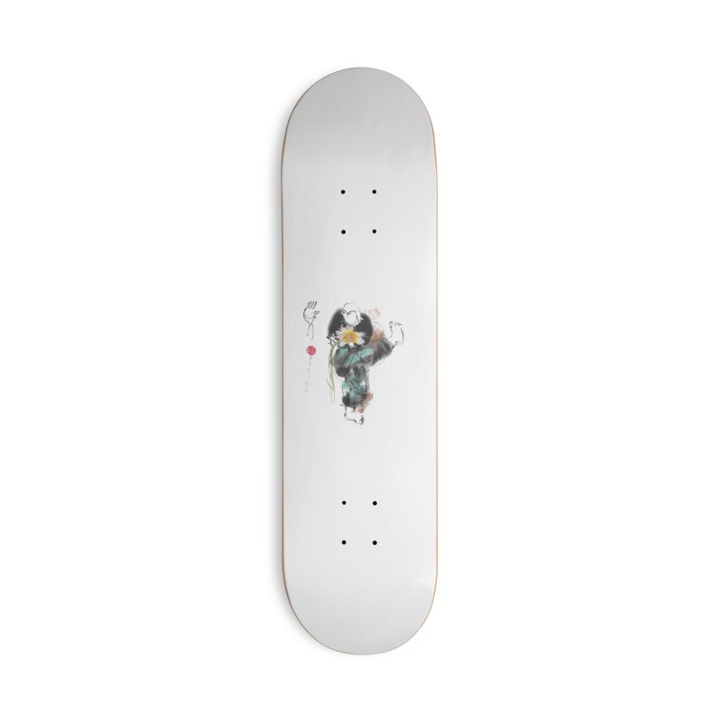 Turn Body And Sweep Lotus With Leg (color version) Accessories Deck Only Skateboard by arttaichi's Artist Shop