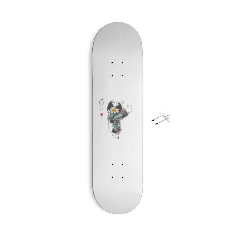 Turn Body And Sweep Lotus With Leg (color version) Accessories Skateboard by arttaichi's Artist Shop